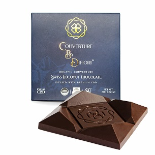 Difiori Sweet Swiss Coconut Chocolate Bar Infused with 100mg of CDB