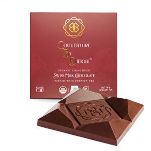 Difiori Creamy Swiss Milk Chocolate Bar Infused with 100mg of CBD