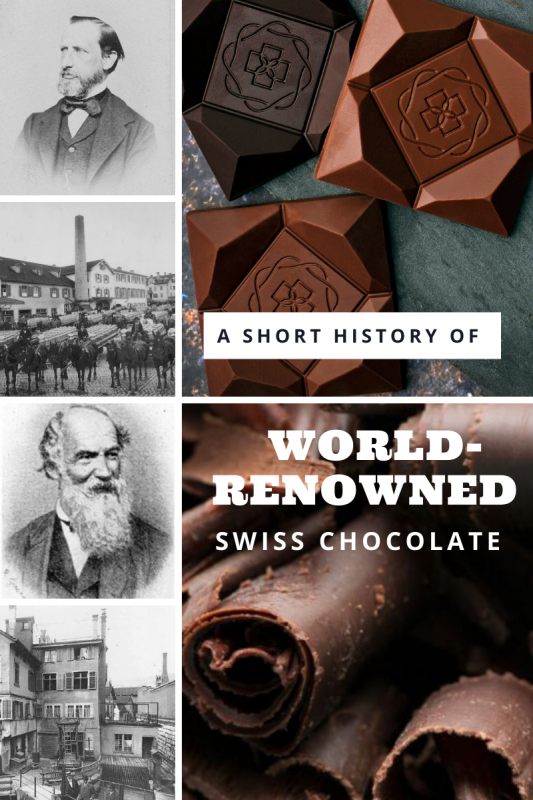 Cover image for blog article about the history of Swiss chocolate